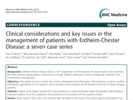 BMC Medicine - Clinical considerations and key issues in the management of patients with Erdheim-Chester. Disease: a seven case series.